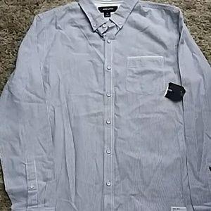 *3 for $10* Adam Levine Striped Oxford Shirt- M